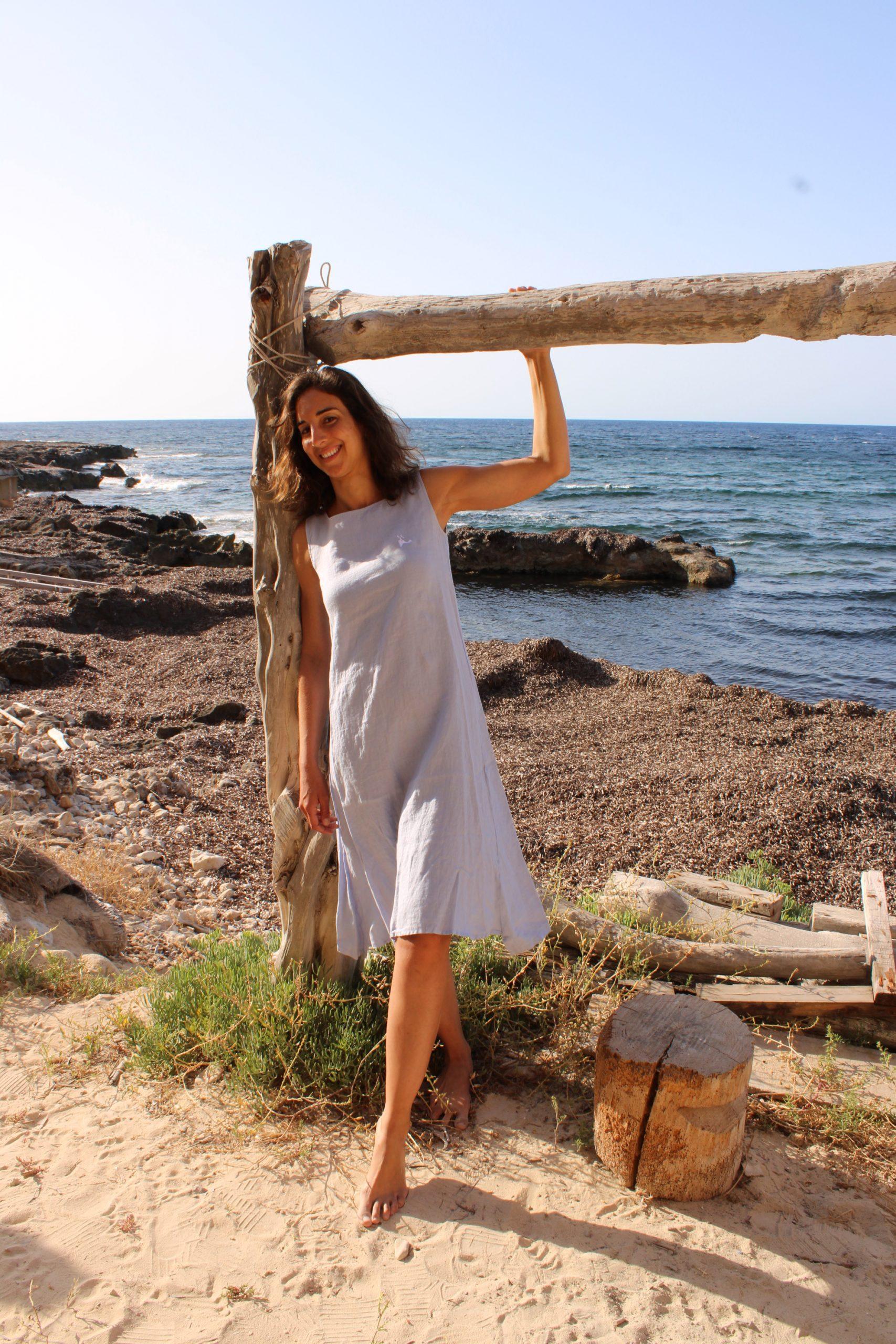 Vestido insula lino