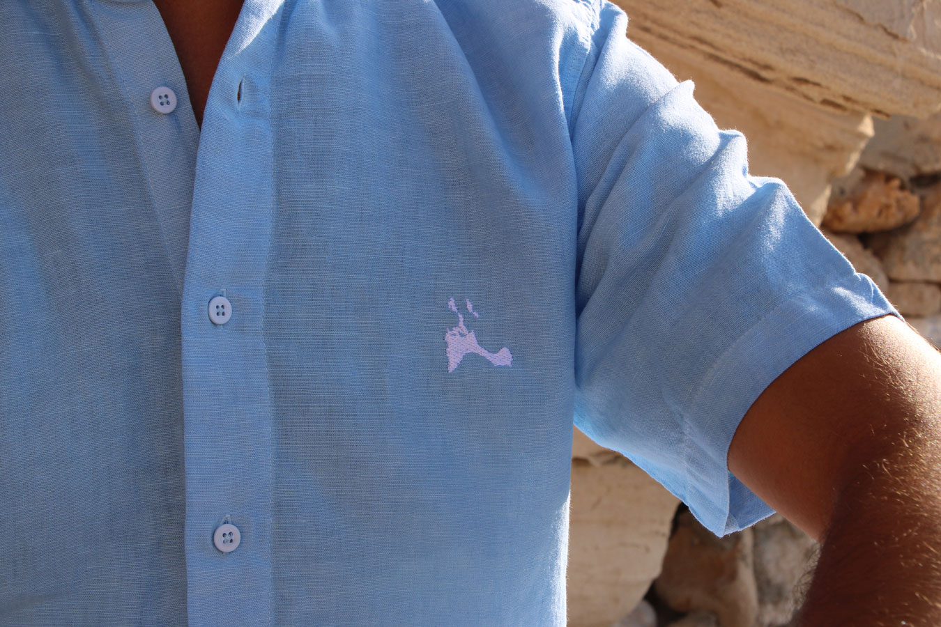 Camisa corta insula lino