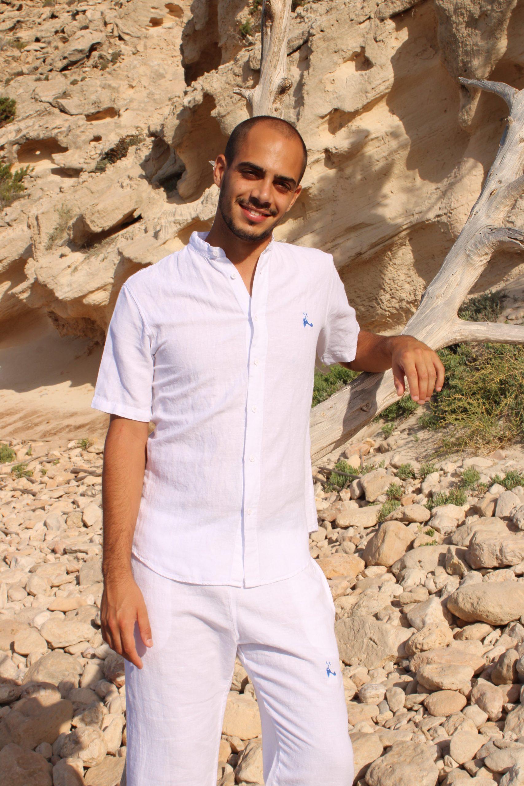 Camisa corta pantalón insula lino