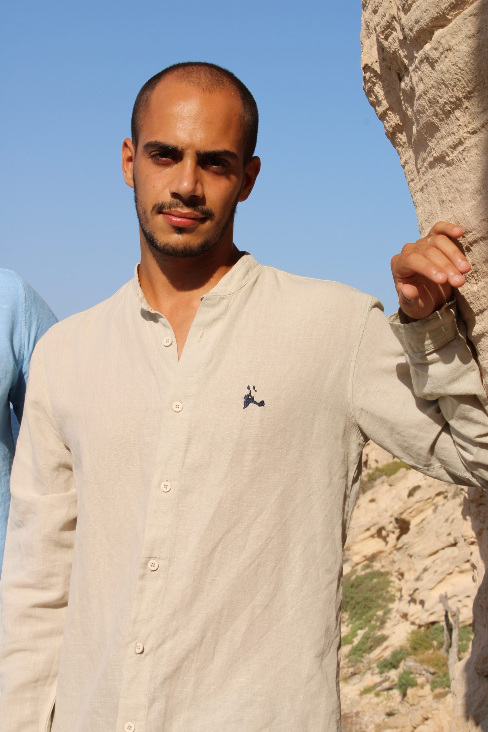 Camisa larga insula lino